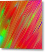 Rainbow Passion Abstract Upper Right Metal Print