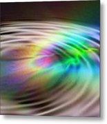 Rainbow Plunge Metal Print