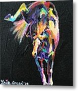 Rainbow Pony Metal Print