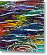 Rainbow Ripple Metal Print