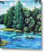 Rainbow River At Rainbow Springs Florida Metal Print