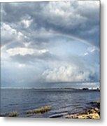Rainbow Seascape Metal Print