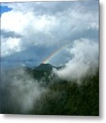 Rainbow Shrouded In Mist Metal Print