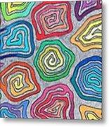 Rainbow Snails Metal Print
