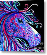 Rainbow Spotted Horse2 Metal Print