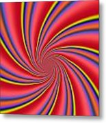 Rainbow Swirls Metal Print