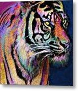 Rainbow Tiger Metal Print