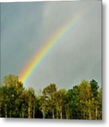 Rainbow To The Clouds Metal Print