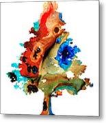 Rainbow Tree 2 - Colorful Abstract Tree Landscape Art Metal Print