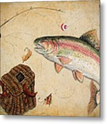Rainbow Trout Metal Print by Jean Plout