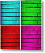 Rainbow Walls Metal Print