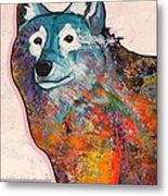 Rainbow Warrior - Alfa Wolf Metal Print