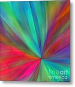 Rainbow Wheel Metal Print by ME Kozdron