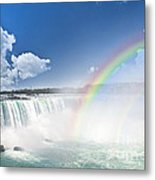 Rainbows At Niagara Falls Metal Print