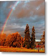 Rainbow's End At Rainbow Falls Metal Print