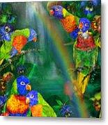 Rainbows In Paradise Metal Print