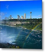 Rainbows Over Niagara Metal Print
