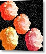 Raindrops On Roses - My Favorite Things Metal Print