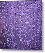 Raindrops On Window II Metal Print