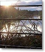 Raindrops To River Sunrise Metal Print