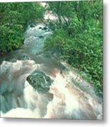 Rainforest Cascade Near Hana Maui Hawaii Metal Print