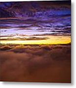Rainier Above The Clouds Metal Print