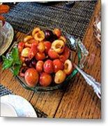 Rainier Cherries - Yummy Metal Print