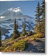 Rainier From Paradise Glacier Metal Print