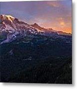 Rainier Soaring Skies Metal Print