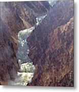 Rainstorm Over Grand Canyon Of The Yellowstone Metal Print