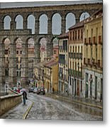 Rainy Afternoon In Segovia Metal Print