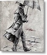 Rainy Day #07 Drawing Metal Print by Emerico Imre Toth