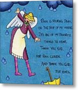 Rainy Day Angel Metal Print