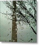 Rainy Day At The Washington Monument Metal Print