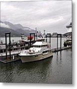 Rainy Day Dock Metal Print