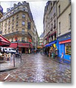Rainy Day In Paris Metal Print
