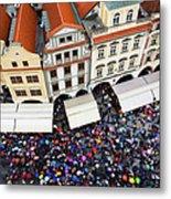 Rainy Day In Prague-1 Metal Print by Diane Macdonald