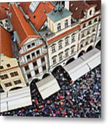 Rainy Day In Prague-2 Metal Print