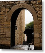 Rainy Day In Provence France Metal Print