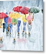 Rainy Day In Rome Metal Print