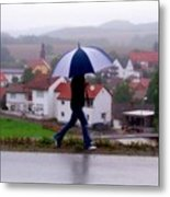 Rainy Day In Sembach Metal Print