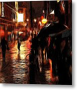 Rainy Day In Soho Metal Print