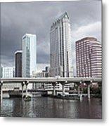 Rainy Day In Tampa Metal Print