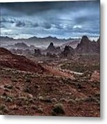 Rainy Day In The Desert Metal Print