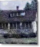 Rainy Day Long Ago House Metal Print