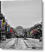 Rainy Day On The Parkway Metal Print