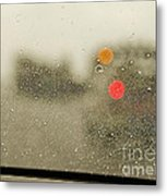 Rainy Day Perspective Metal Print