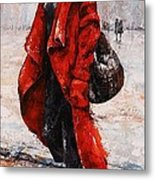 Rainy Day - Red And Black #2 Metal Print by Emerico Imre Toth