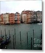 Rainy Day View From Palazzo Grassi Metal Print