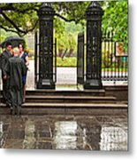 Rainy Destination Wedding In Jackson Square New Orleans Metal Print